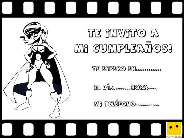 Invitaciones de cumpleaños para una fiesta temática de superhéroes