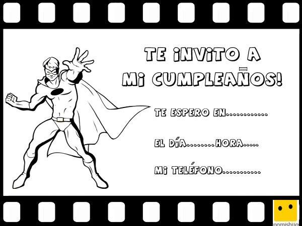 Invitaciones De Fiestas De Cumpleaños Con Dibujos De Cine