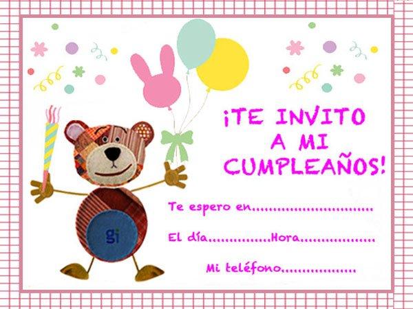 444ea46b2066e Propuestas de invitaciones de cumpleaños para niños con el Oso Traposo