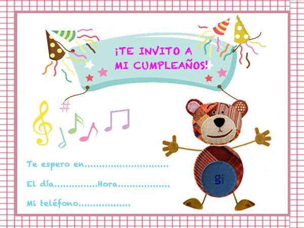 Ejemplos De Tarjetas De Invitacion De Cumpleanos
