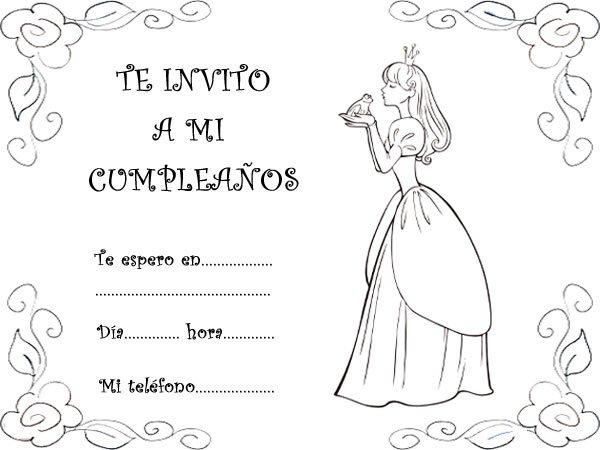 Invitación De Cumpleaños Con Imágenes De Princesas