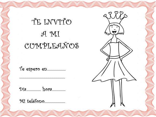 Invitaciones de cumpleaños con princesas de cuento y fantasía