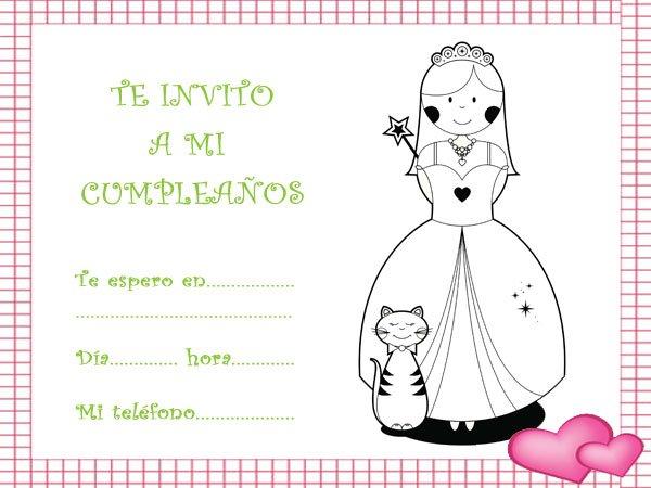 Invitación De Cumpleaños Con Imágenes De Princesas De Fantasía