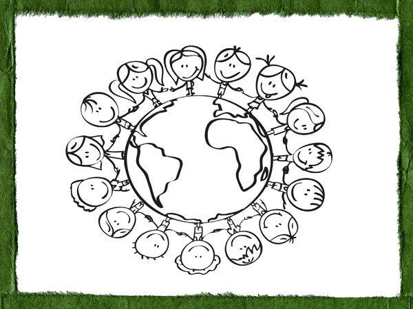 Dibujos para pintar sobre el amor de los niños al planeta