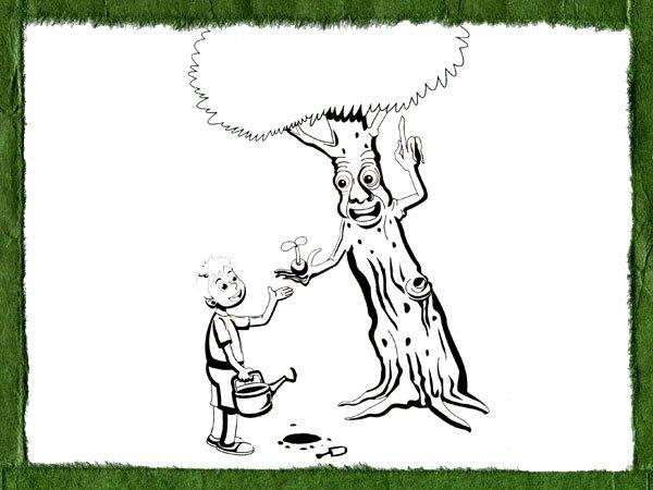 Dibujos Infantiles Sobre La Importancia De Plantar Un Arbol