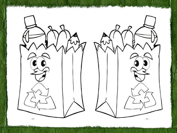 Dibujos Educativos Para Pintar Y Enseñar A Reciclar A Los Niños
