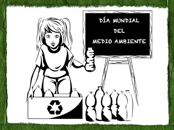 Dibujo Para Pintar Con Los Niños Sobre El Reciclaje