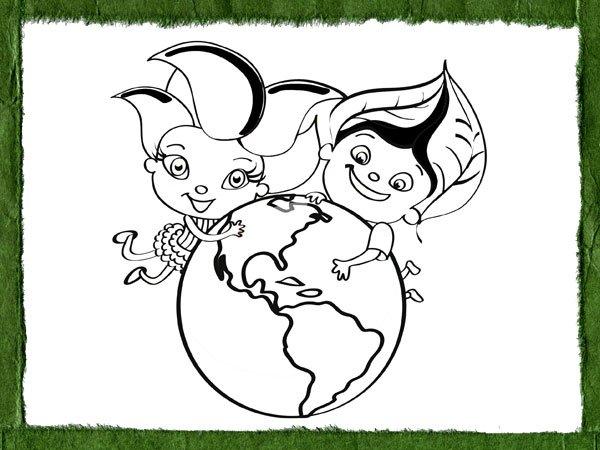 Dibujos Ecológicos Para Colorear Con Los Niños
