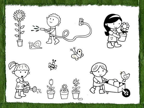 Dibujos Para Pintar Con Los Niños Sobre El Amor A La Naturaleza