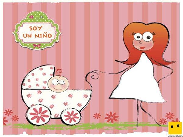 Tarjeta con dibujos para festejar el nacimiento de tu bebé