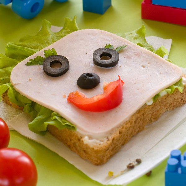 Sandwich sonriente para niños