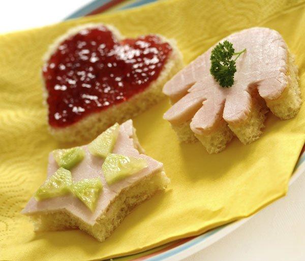 Sandwiches con formas originales para niños