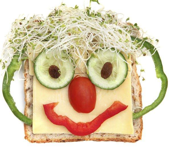 Sandwich payaso para niños