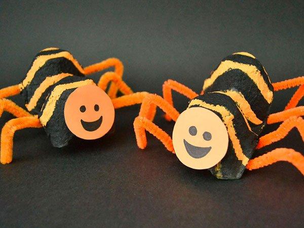 Manualidades Halloween Ninos.Video De Manualidades De Halloween Arana Rayada