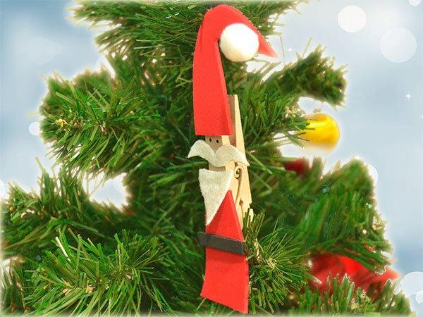 Video De Manualidad De Papa Noel Con Pinza Para Navidad - Videos-de-manualidades-para-navidad