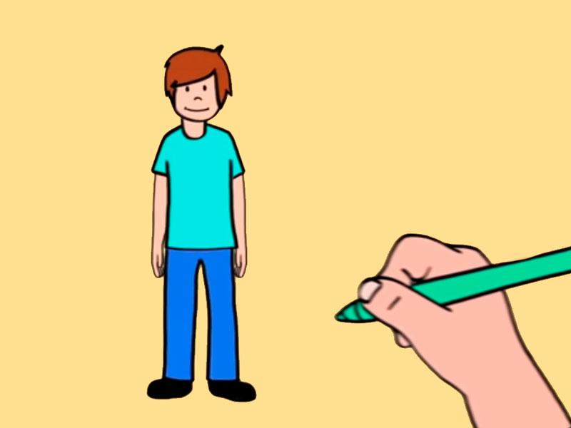 Como Dibujar Facil Un Nino