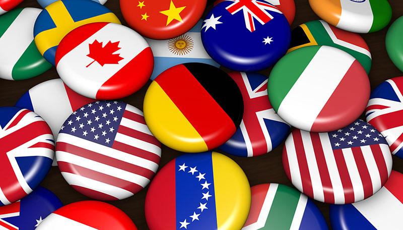 Dibujos banderas del mundo