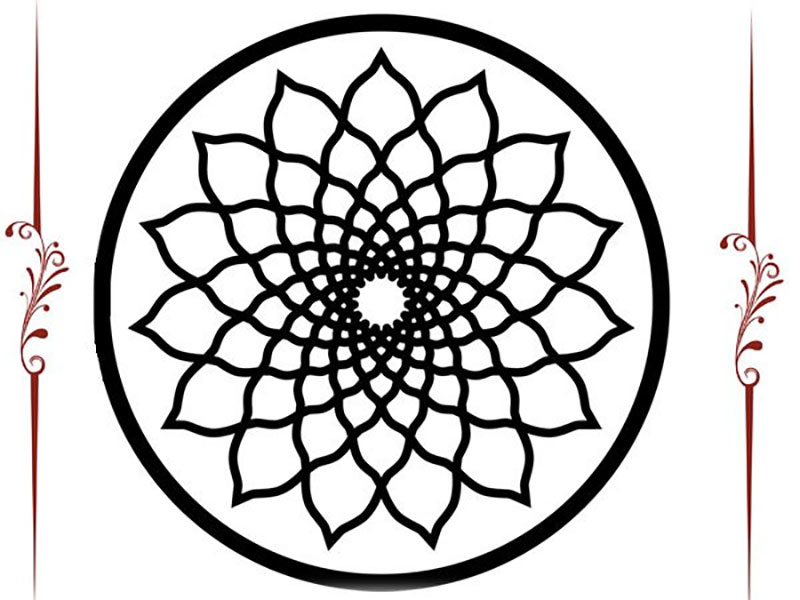 Mandala De Formas Geometricas Para Colorear