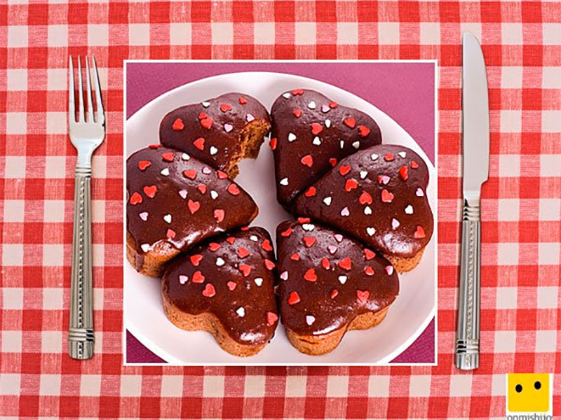 Recetas dulces forma de corazón