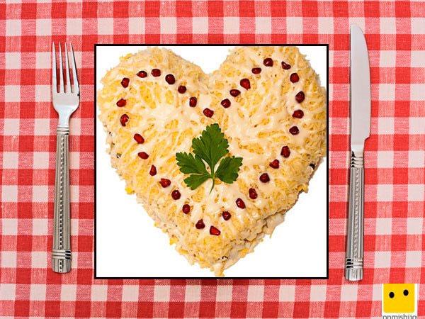 Recetas saladas forma de corazón