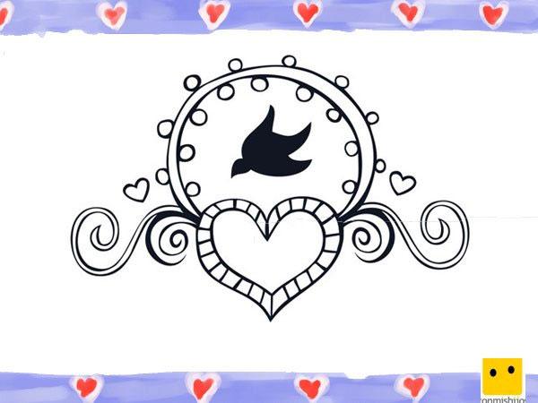 Colorear dibujos corazones