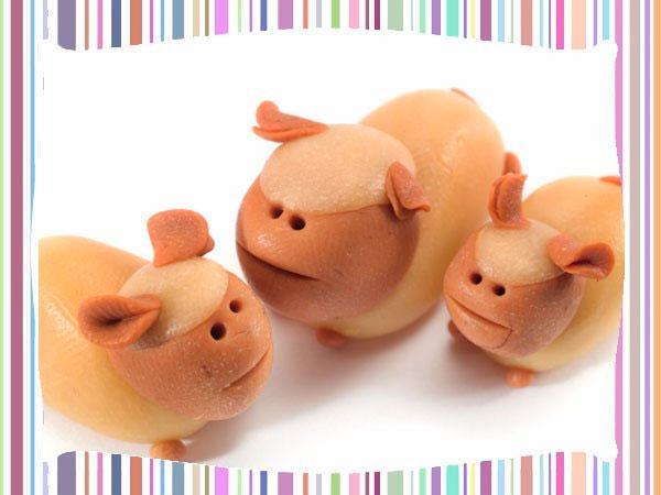Animales de la granja en plastilina
