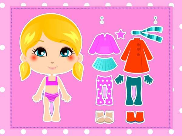 Muñecas Recortables Para Niños Y Niñas