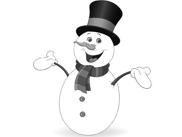 Colorear muñecos de nieve
