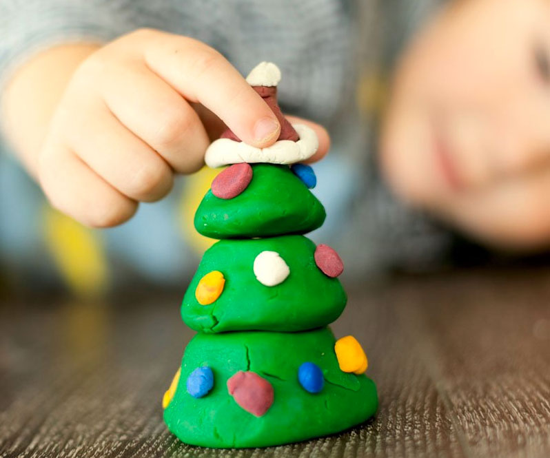 Manualidades arboles de navidad para niños