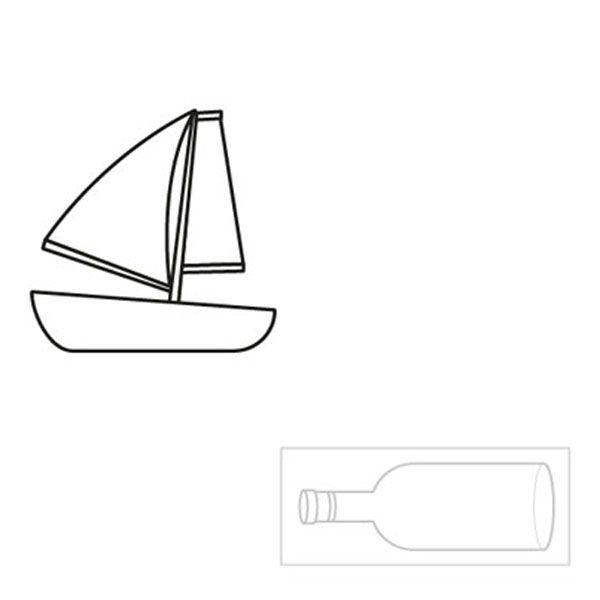 Barco dentro de una botella: dibujo para colorear e imprimir