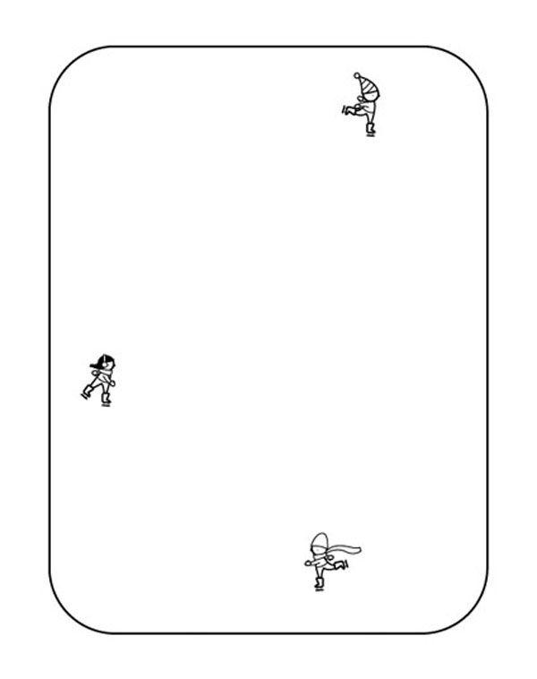 patinadores sobre pista de hielo dibujo para colorear e imprimir