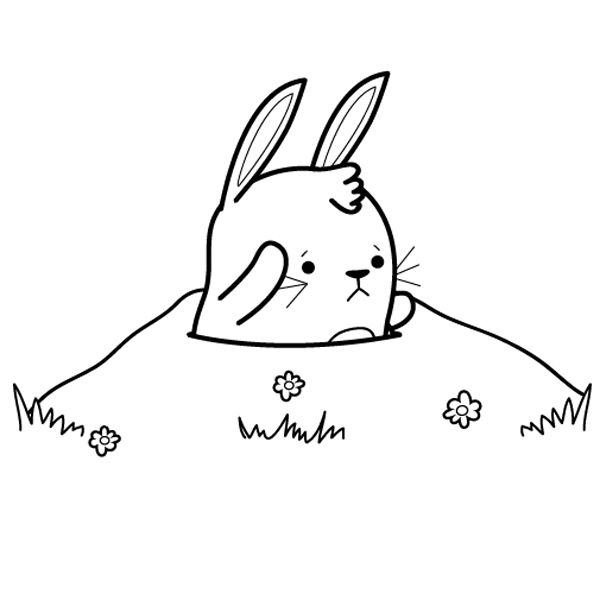 Conejito: dibujo para colorear e imprimir