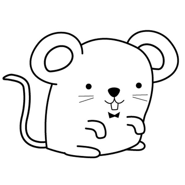 Imprimir: Ratoncito: dibujo para colorear e imprimir