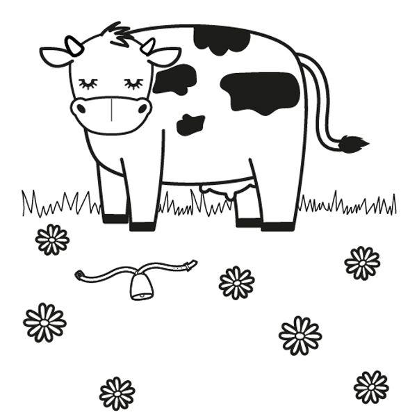 en un prado dibujo para colorear e imprimir
