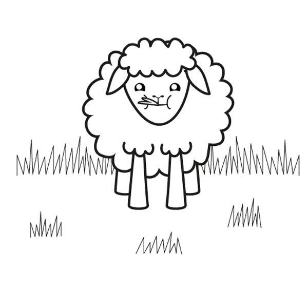 ovejita negra dibujo para colorear e imprimir