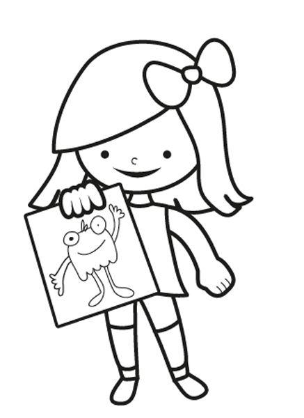 El amigo invisible: dibujo para colorear e imprimir
