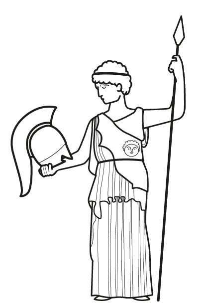 Estatua De Diosa Griega Dibujo Para Colorear E Imprimir