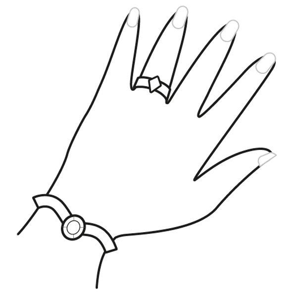 Mano de princesa dibujo para colorear e imprimir - Ninos pintando con las manos ...