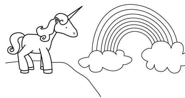 Unicornio: dibujo para colorear e imprimir