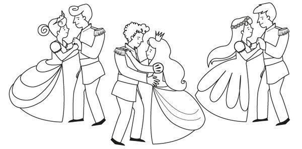 Los Mejores Dibujos Para Colorear De Disney Grupo Perú: Baile De Príncipes: Dibujo Para Colorear E Imprimir