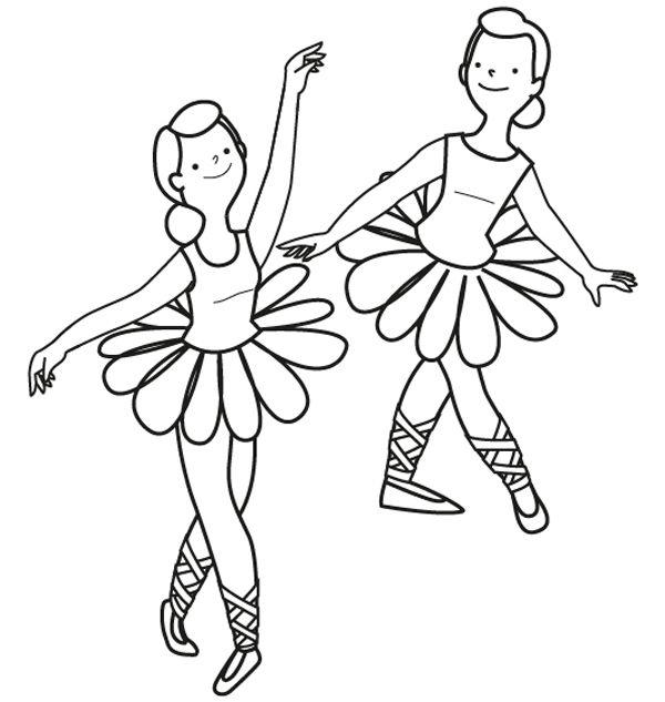 Bailarinas de ballet: dibujo para colorear e imprimir