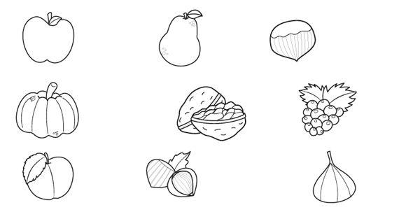 Frutas de oto o dibujo para colorear e imprimir for Como crecen los arboles para ninos