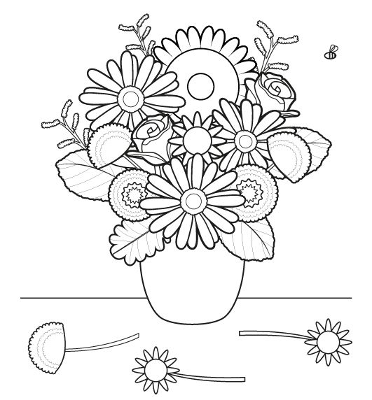 de flores dibujo para colorear e imprimir