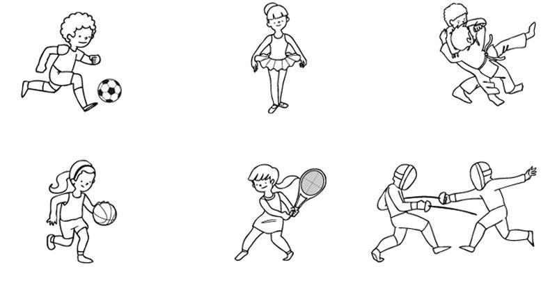 Deportes: dibujos para colorear e imprimir