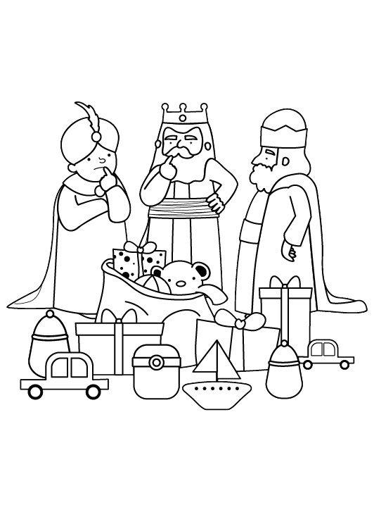 Reyes Magos Dibujo Para Colorear E Imprimir