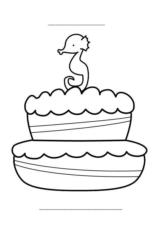 Tarta De Cumpleanos 3 Anos Dibujo Para Colorear E Imprimir