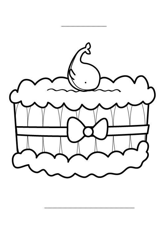 Tarta de cumplea os 6 a os dibujo para colorear e imprimir - Dibujos de tartas para colorear e imprimir ...