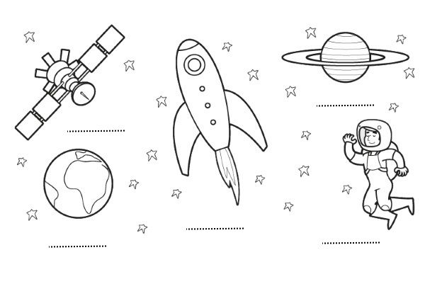El espacio: dibujos para colorear e imprimir