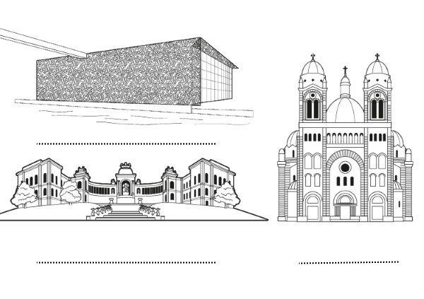 Marsella (2): dibujo para colorear e imprimir