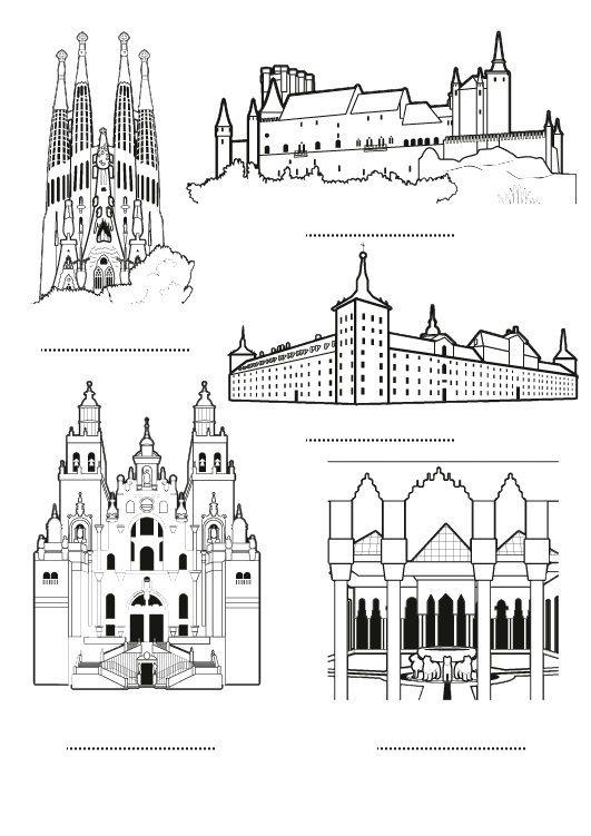 España: dibujo para colorear e imprimir